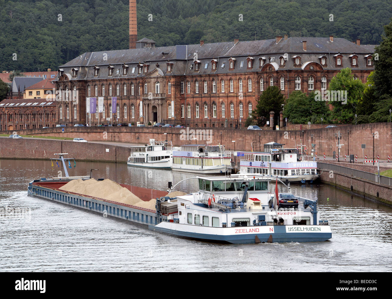 Villeroy Und Boch Saarland Vessel On The River Saar In Front Of The Headquarters Of The