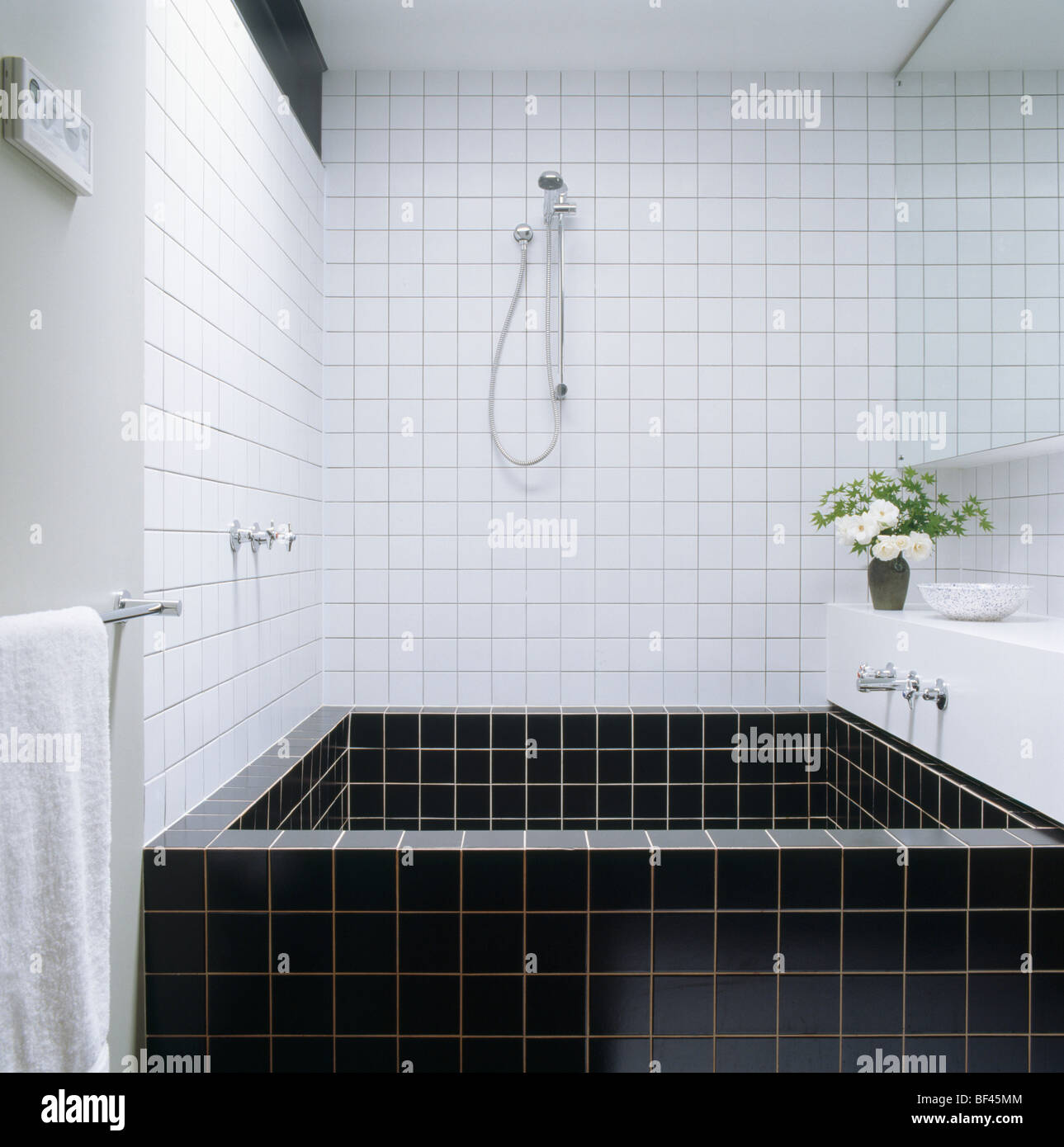 Black Tiled Bathroom Tiled Bath Stock Photos And Tiled Bath Stock Images Alamy