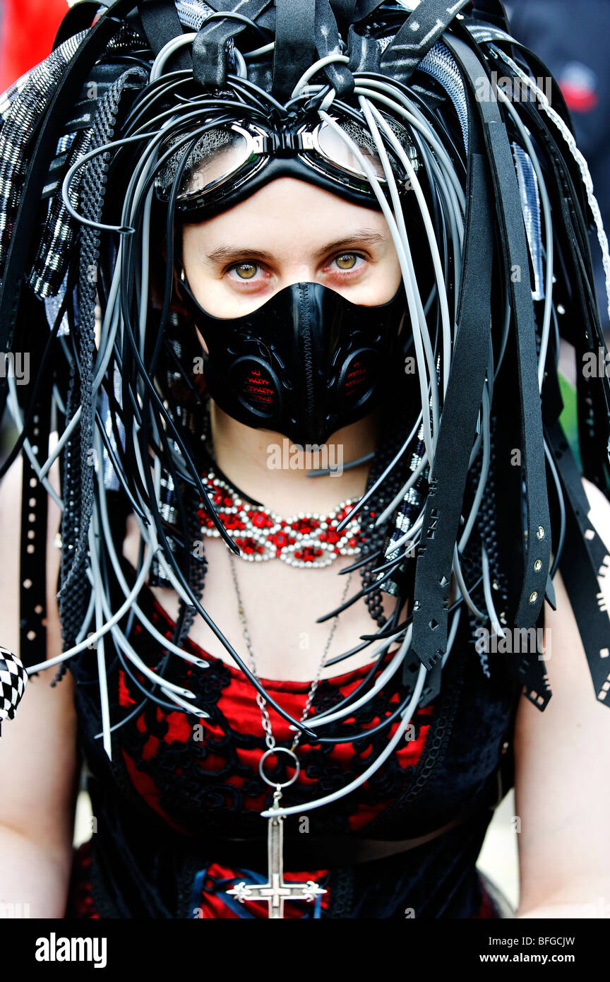 Hd Goggles Wallpaper Young Woman In Cyber Goth Costume At Whitby Gothic