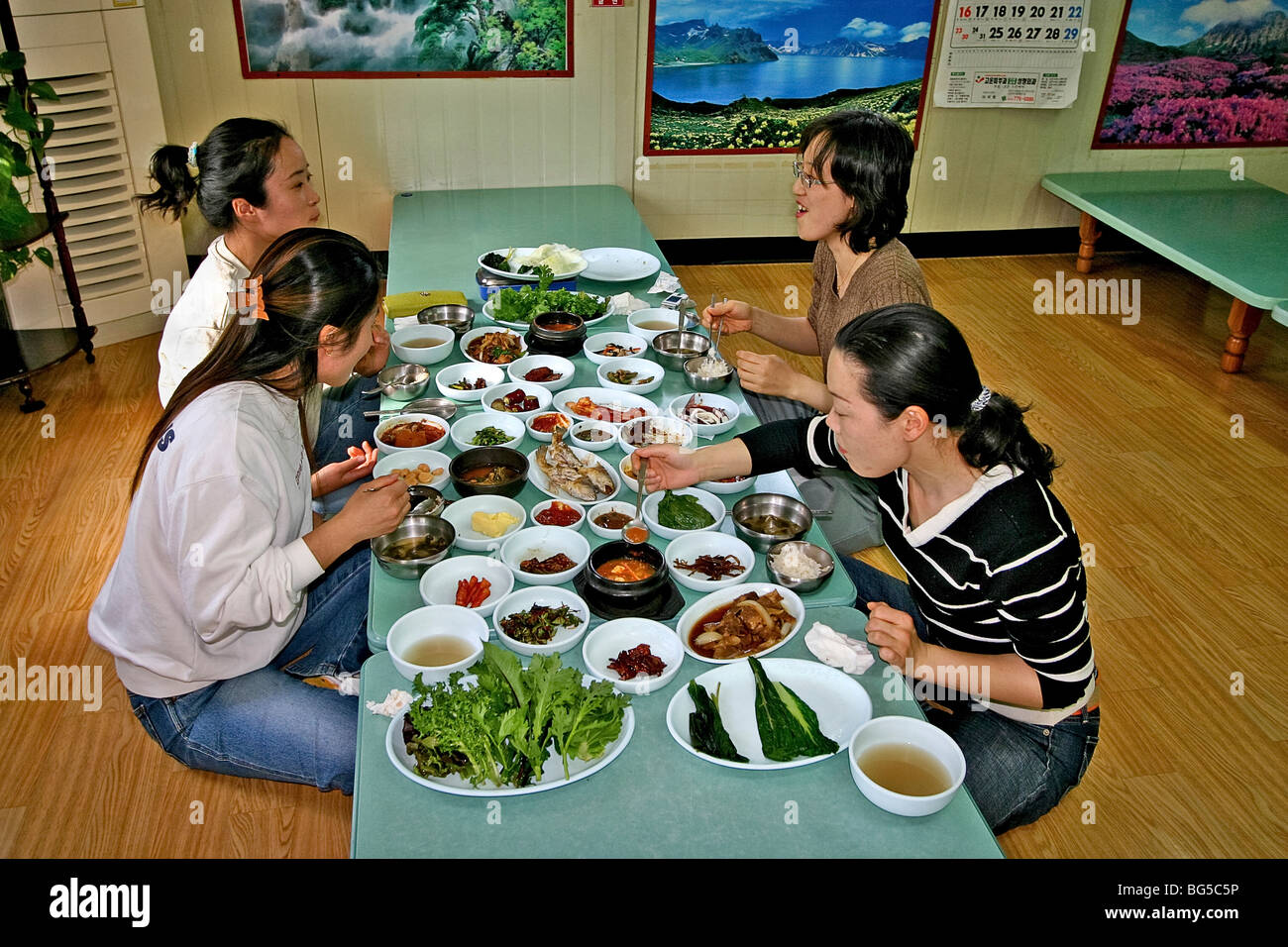 Classic Table Side Dishes Korean Side Dishes Stock Photos Korean Side Dishes Stock Images