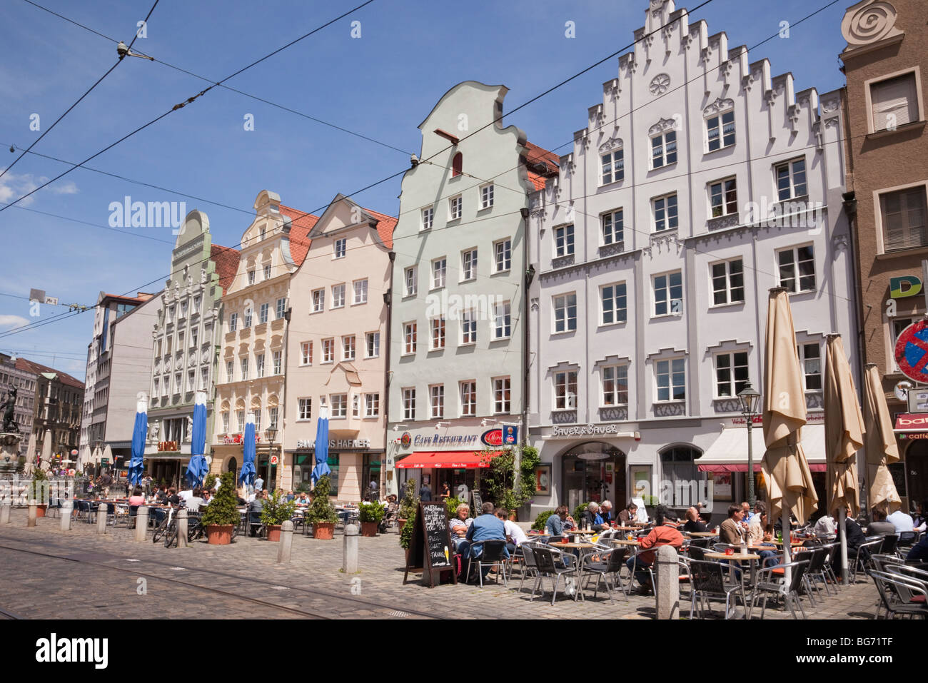 Augsburg Shopping Maximilianstrasse Augsburg Bavaria Germany City Centre