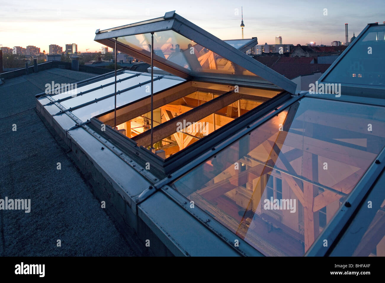 Loft Wohnung Berlin Above The Glass Roof Of A Loft Apartment Loft Living Berlin