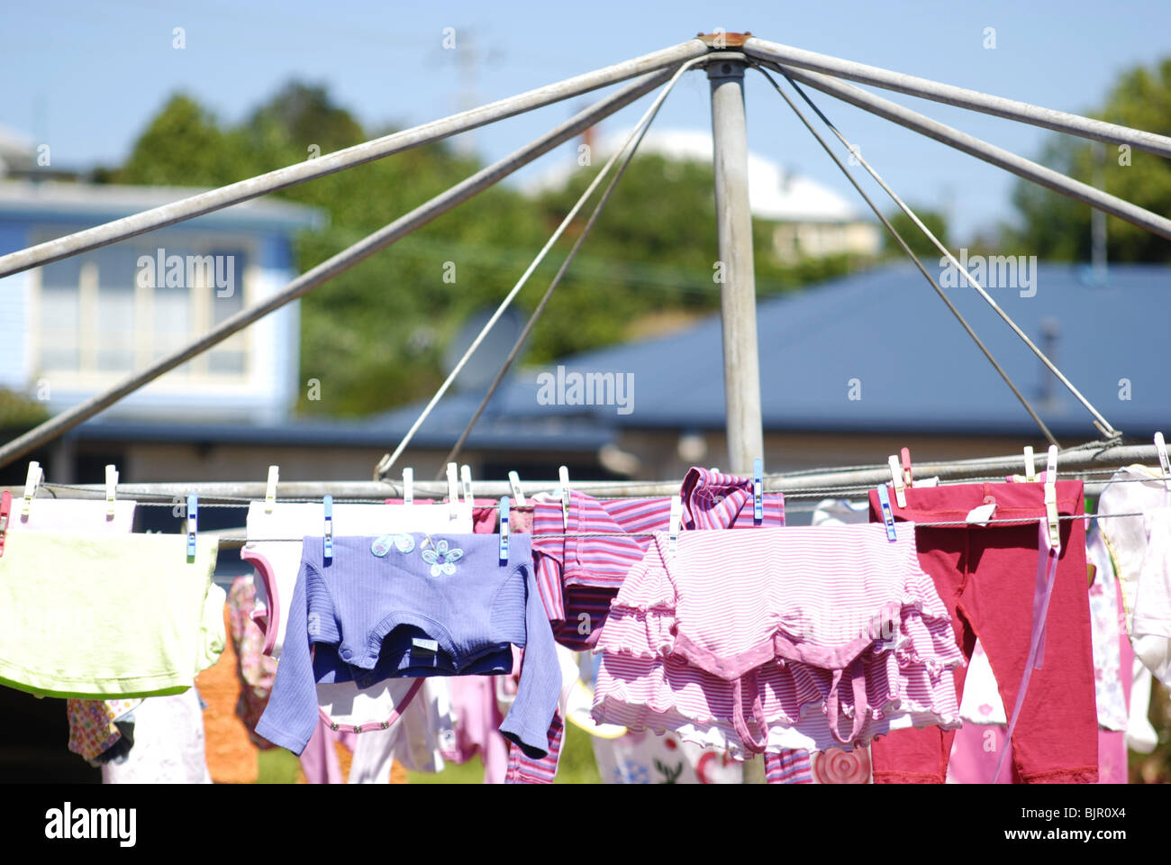 Hills Clothes Hoist Hills Hoist Washing Line With Laundry Drying In Australian