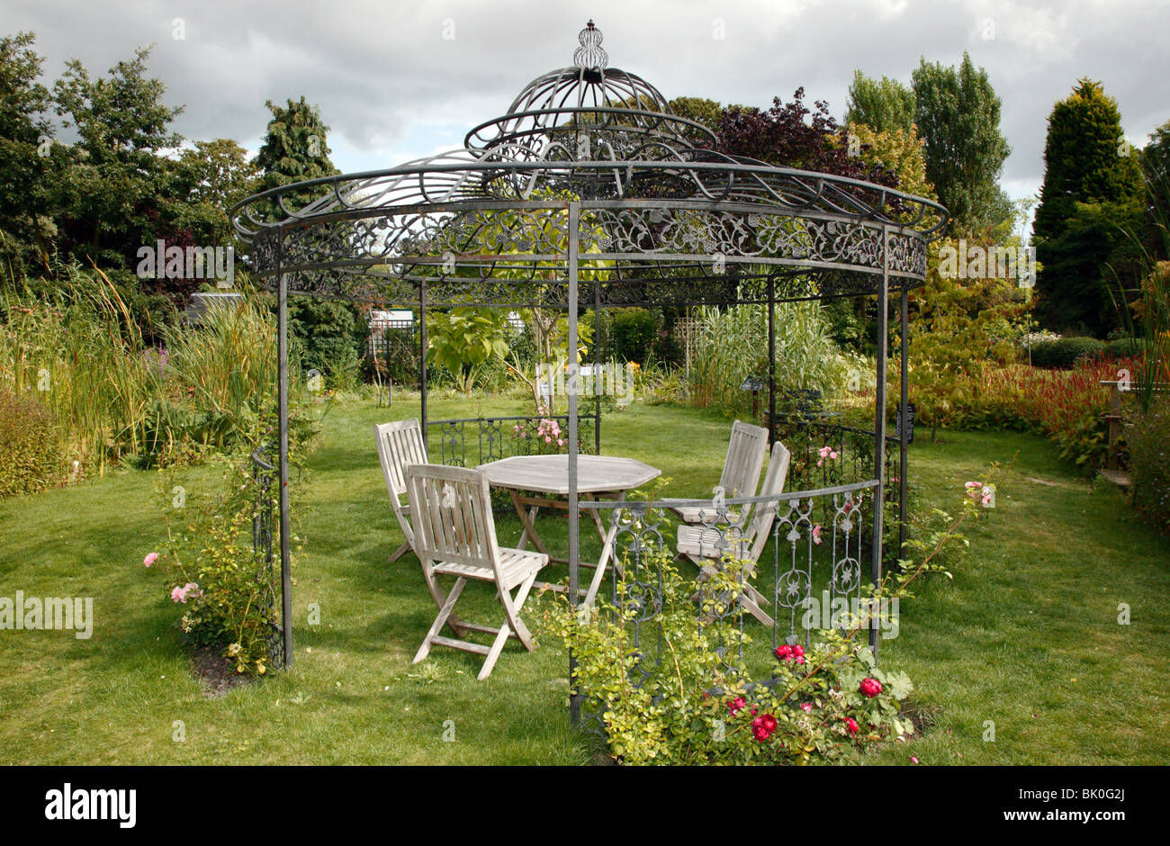 Metal Garden Gazebo Large Metal Gazebo Containg Garden Furniture In The Secret