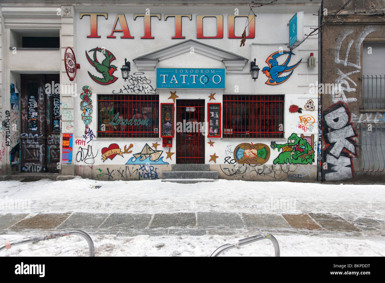 Tattoo Berlin Prenzlauer Berg Prenzlauer Berg Tattoo Shop In Berlin Stock Photo 29382356 Alamy