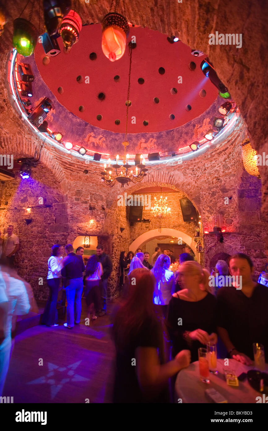 People amusing in the nightclub hamam club kos town kos greece