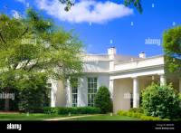 The Oval Office exterior with garden, the West Wing of the ...