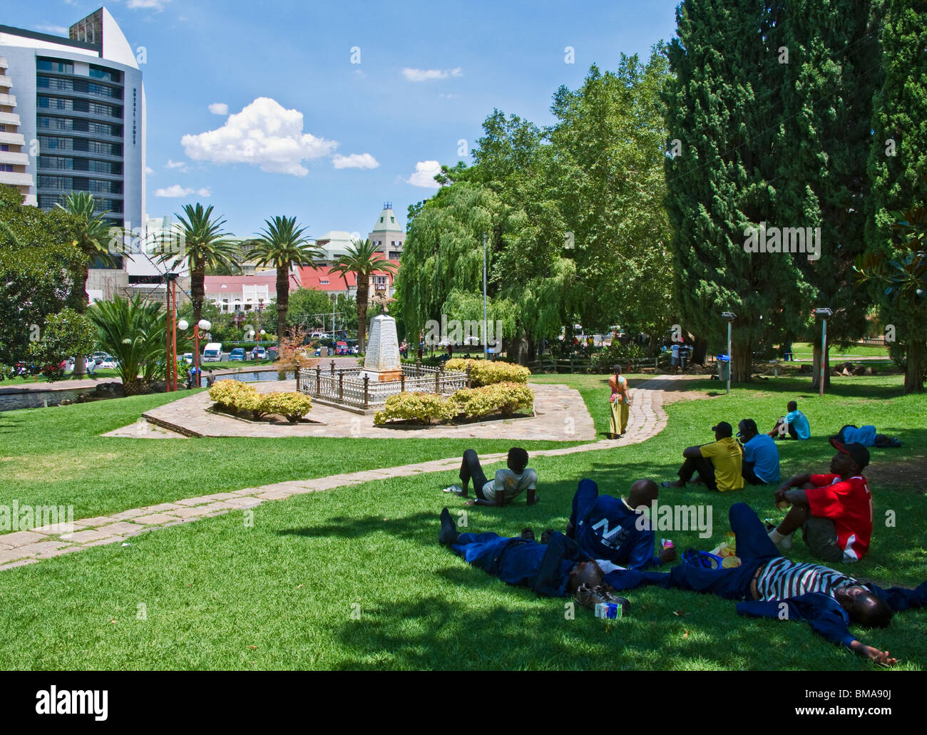 Namibia Immobilien Namibia People Windhoek In City Center Stock Photos Namibia