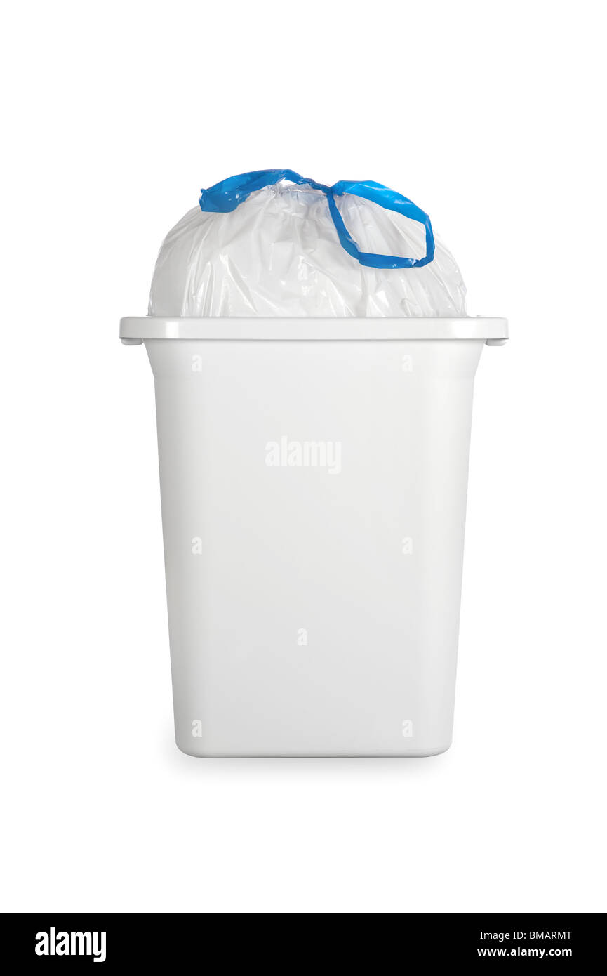 Small White Trash Can With Lid Garbage Can Stock Photos Garbage Can Stock Images Alamy