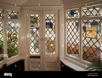 Houses Edwardian arts and crafts House, decorative stained ...