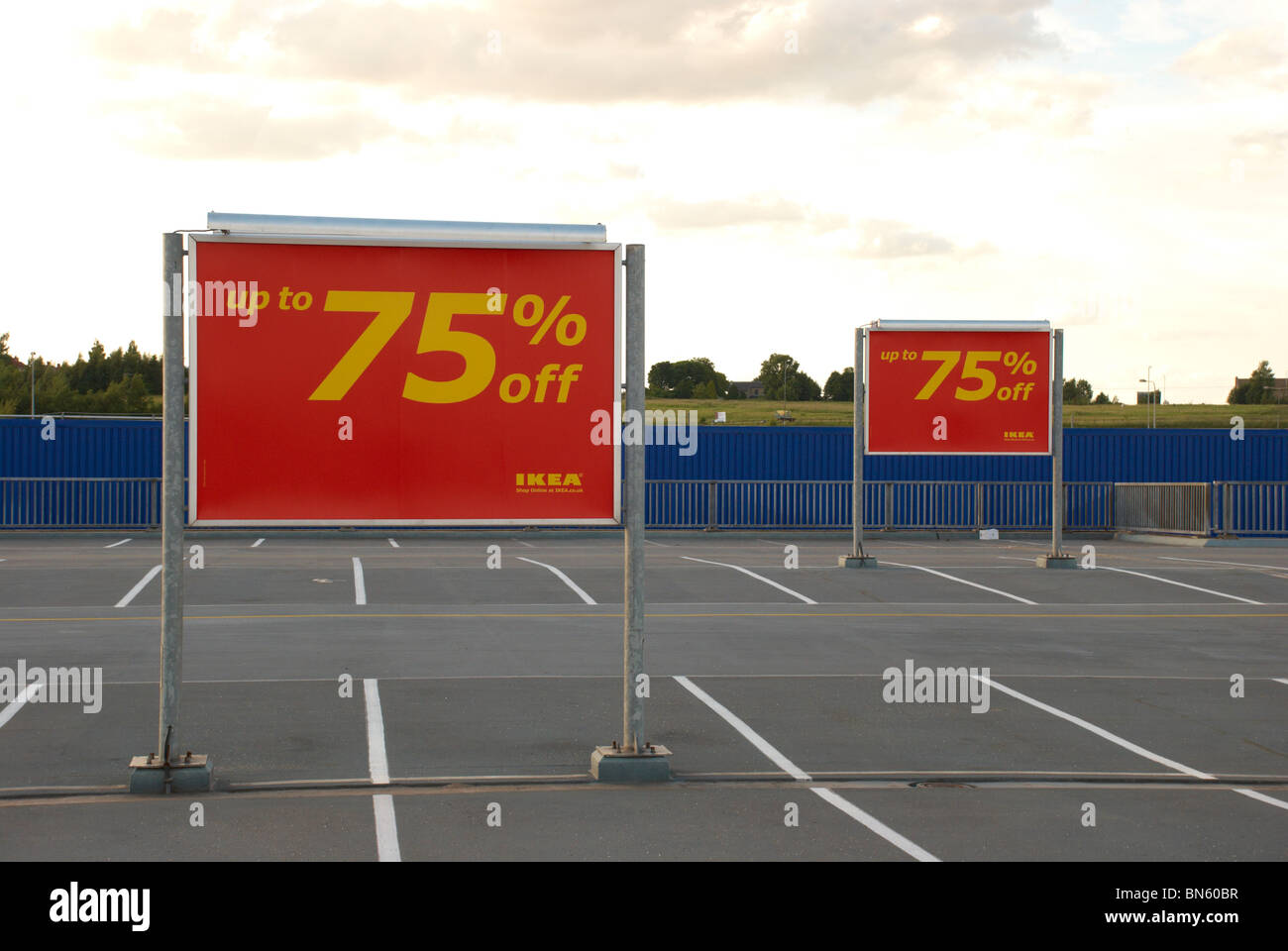 Ikea Poster 75 Off Sale Poster In An Ikea Car Park Stock Photo 30250187 Alamy