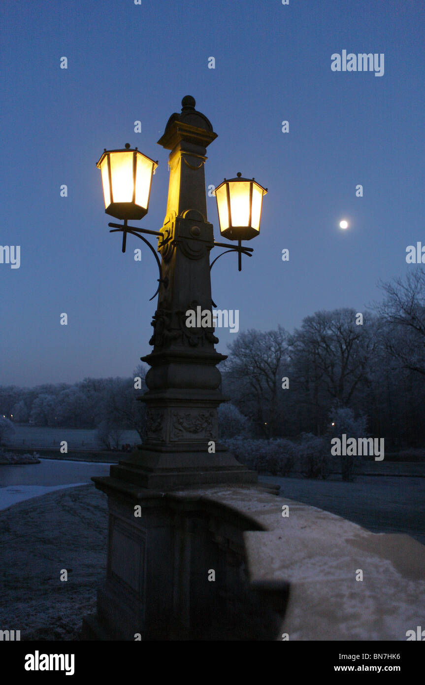 Lampen Bremen Street Lamp In Buergerpark Bremen Germany Stock Photo 30285674
