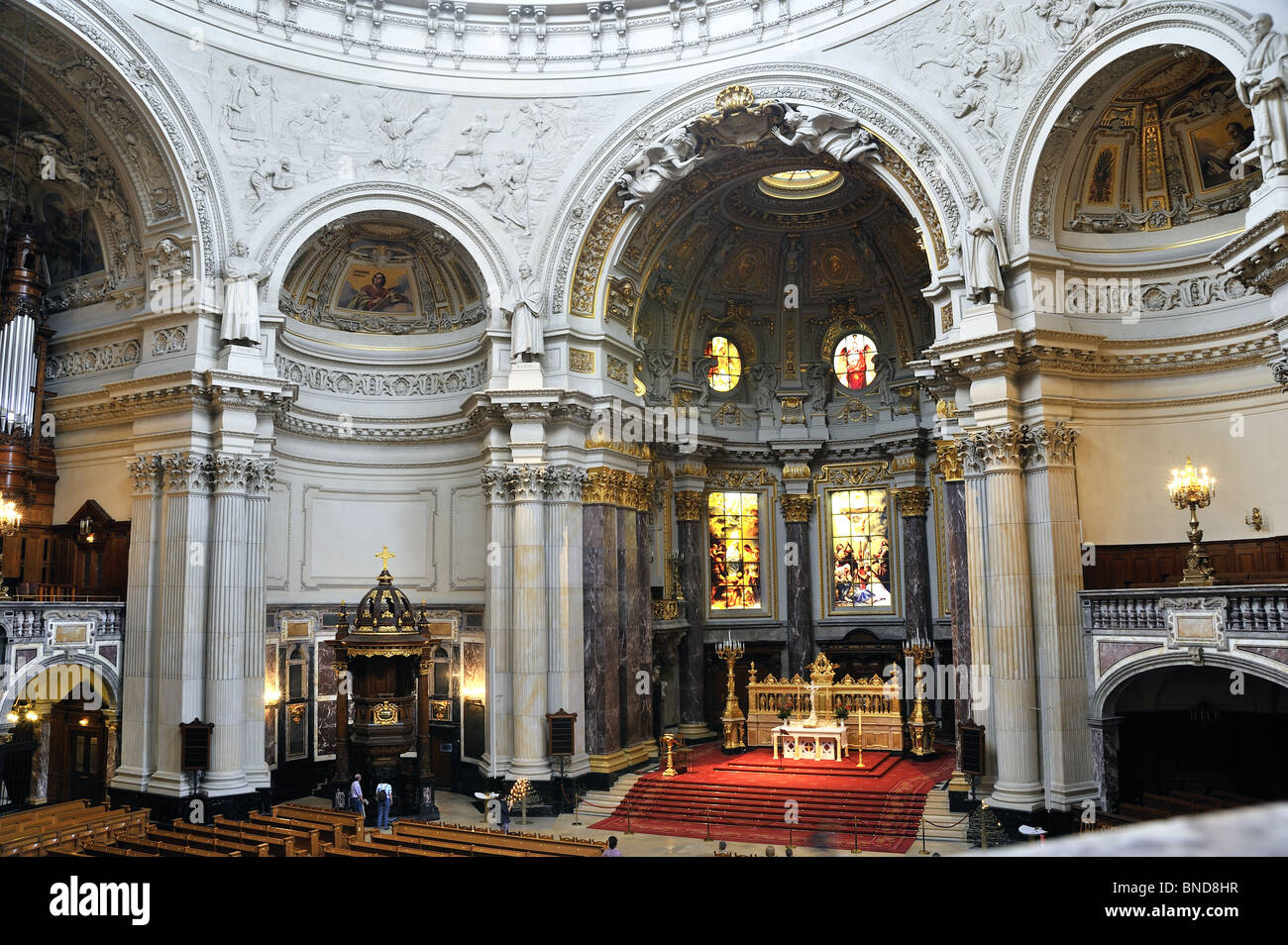 Interior Berlin Berliner Dom Berlin Cathedral Interior View On Altar