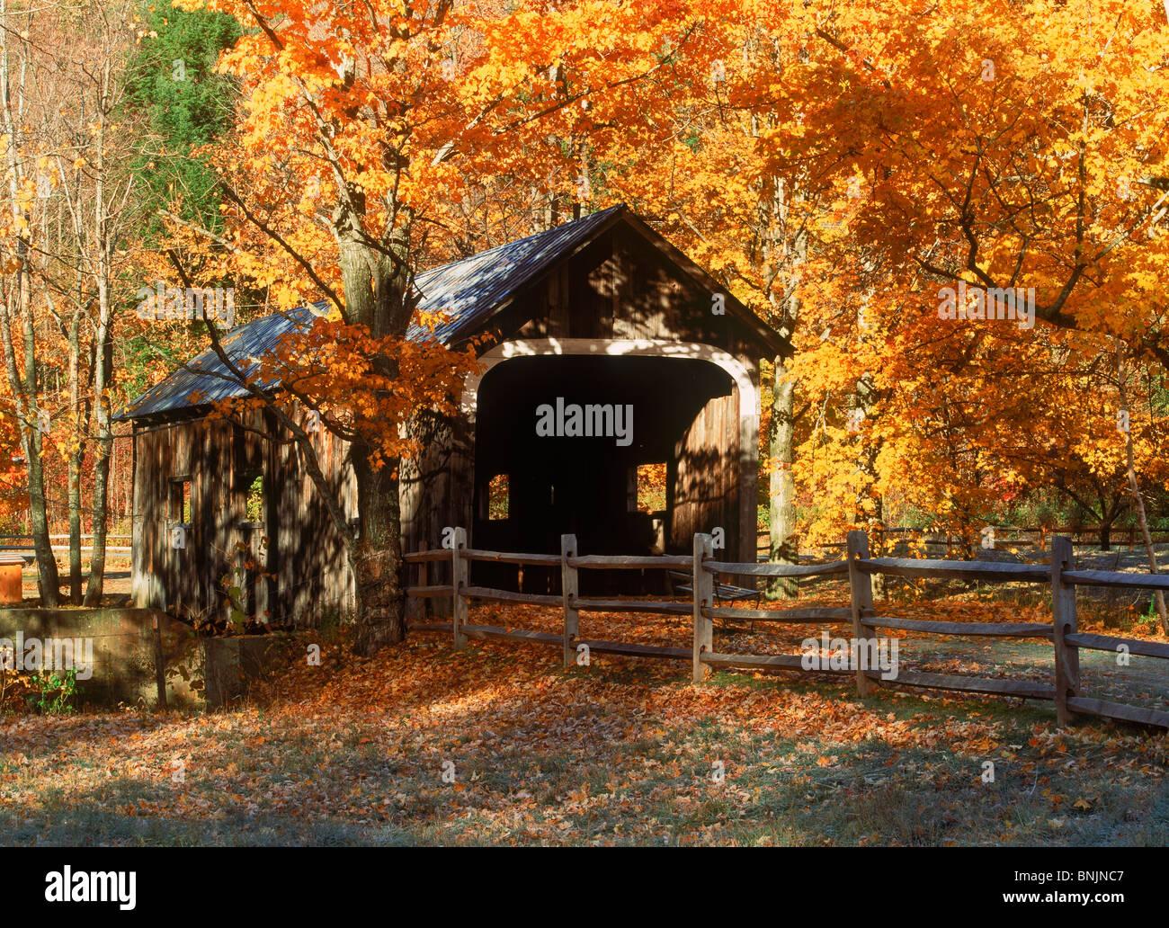 Vermont Fall Foliage Wallpaper Old Covered Bridge Amid Fall Foliage Near Grafton Vermont