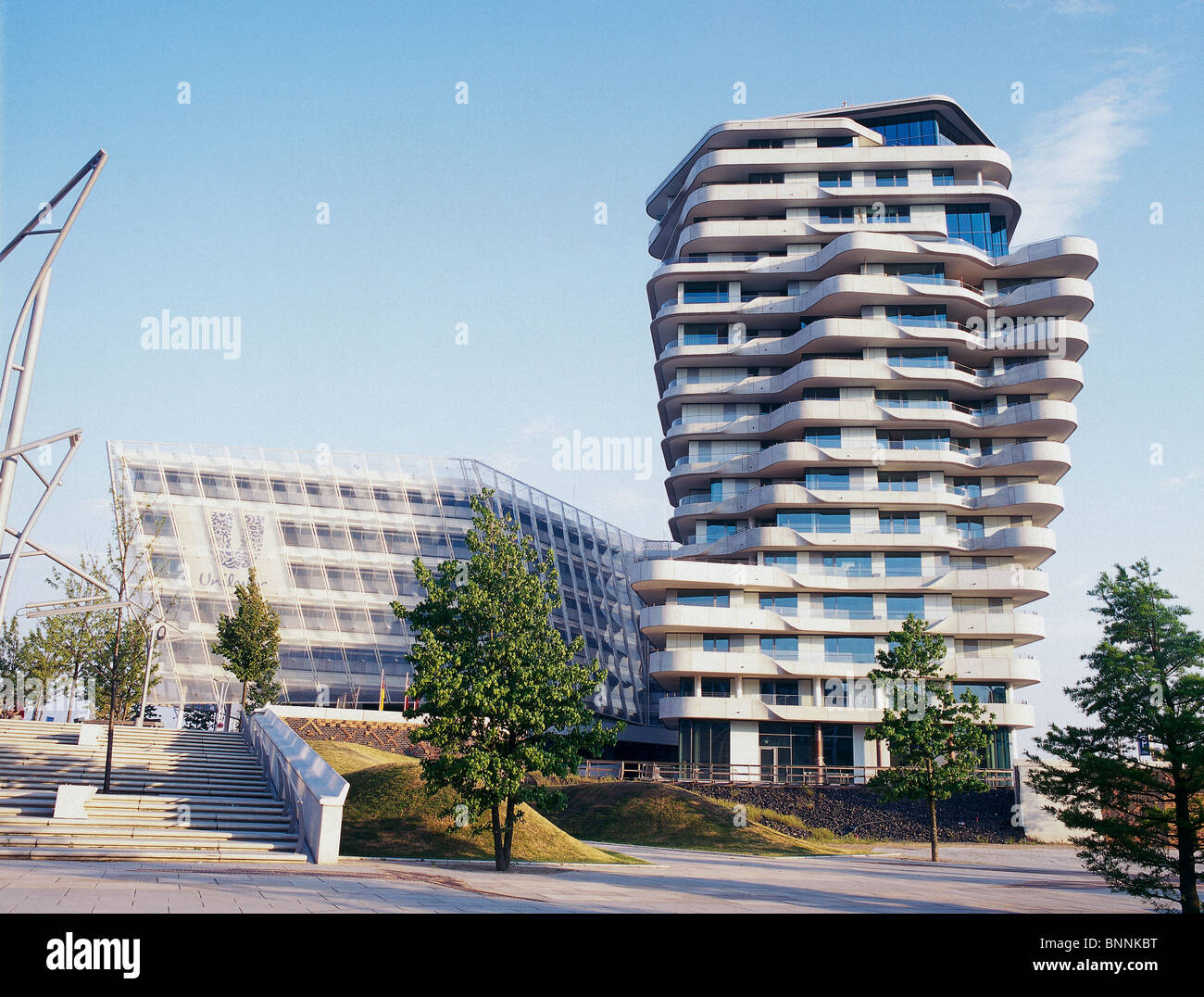Marco Polo Tower The New Marco Polo Tower In Hamburg Build By Behnisch Architects Stock Photo - Alamy