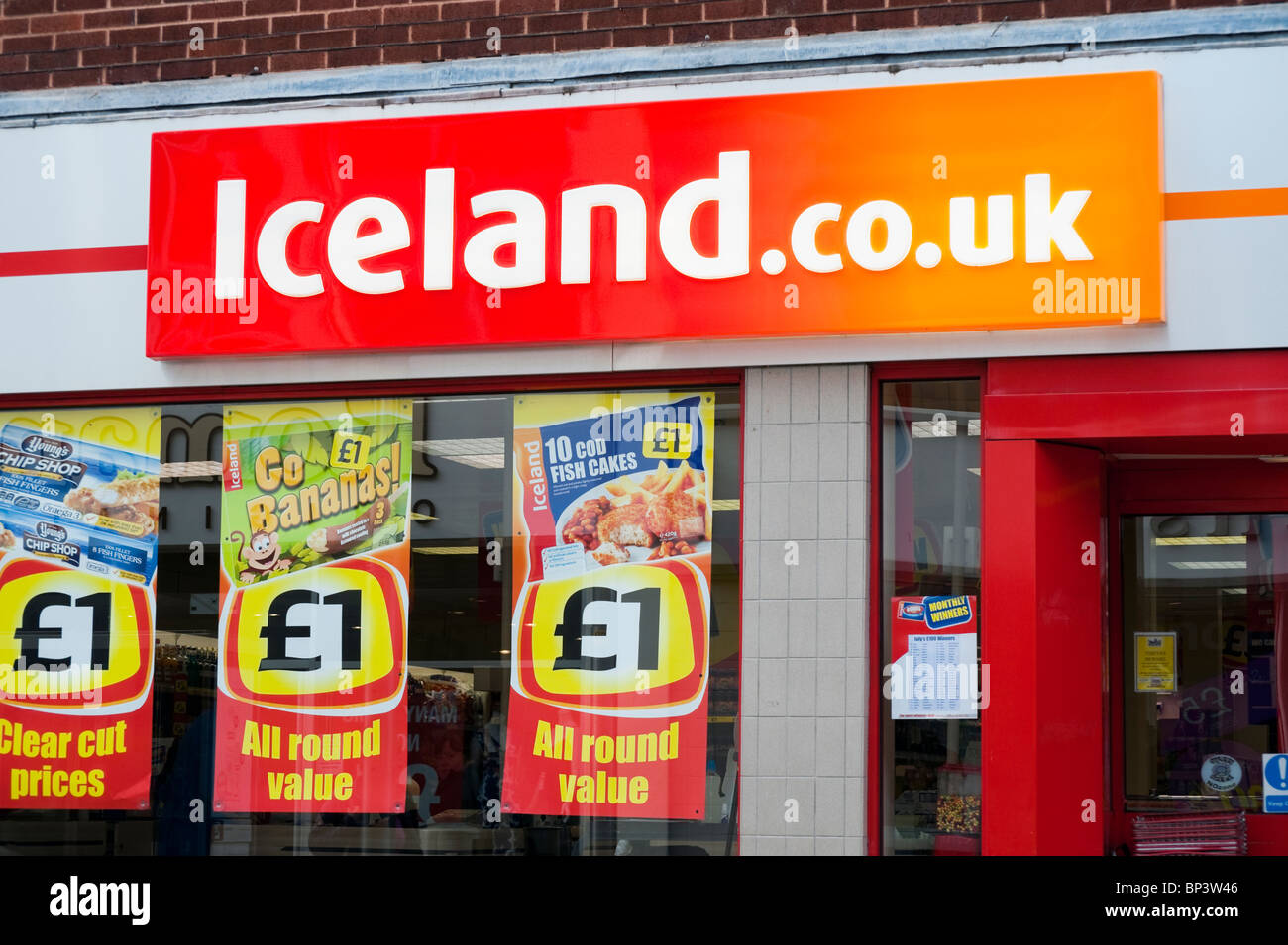 Store En Stock Iceland Frozen Foods Shop In Hereford Uk Iceland Store Exterior