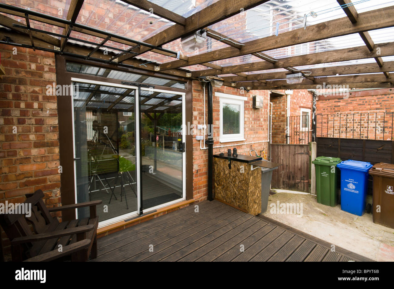 Decking Panels Home Built Patio Decking With Corrugated Plastic Roofing And