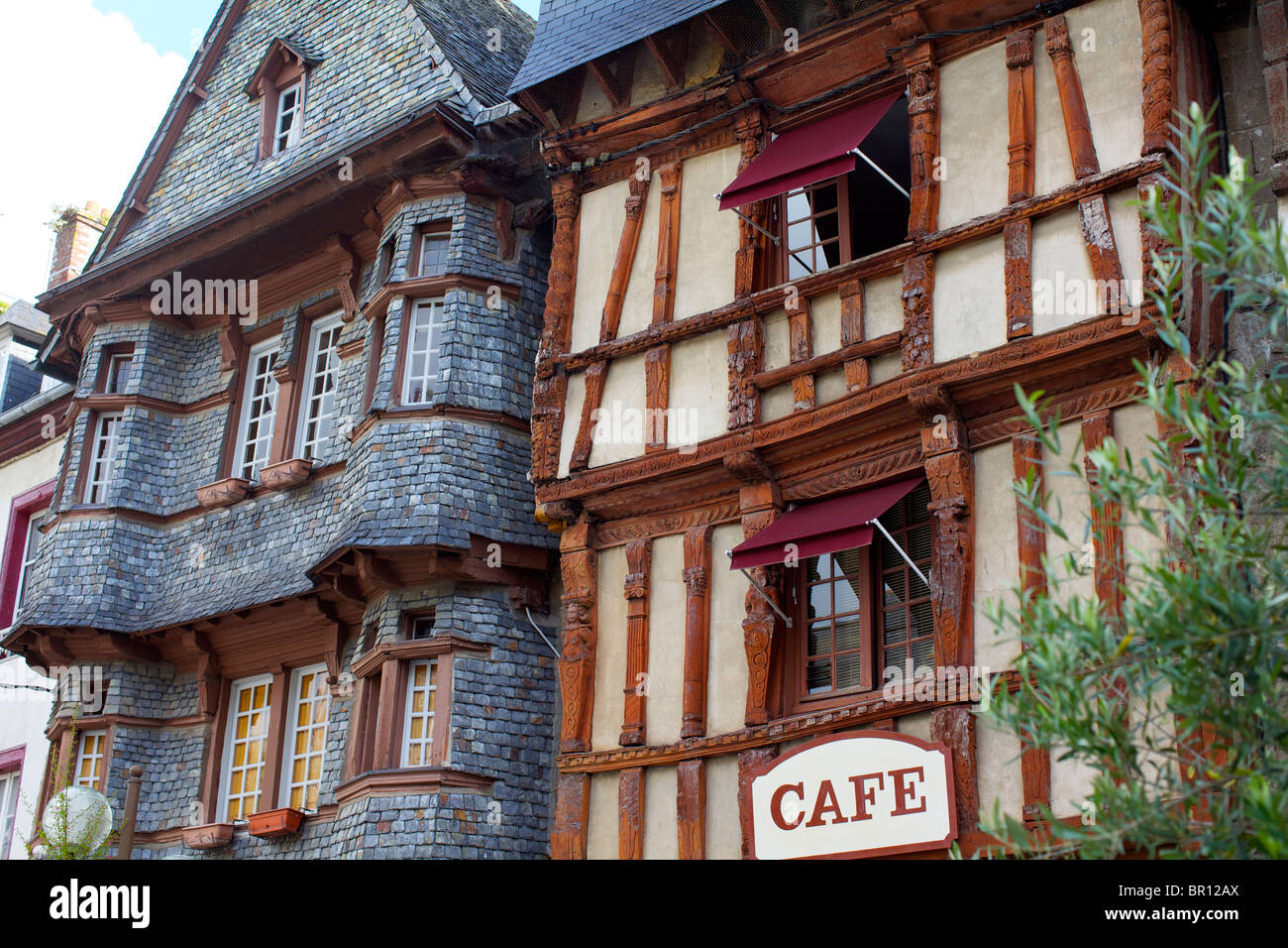 Architecte Lannion Old Timber Framed Houses At Lannion In The Côtes D Armor