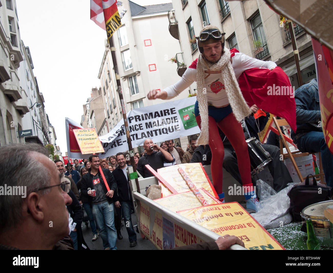 Jacadi Grenoble People Take Part In A Demonstration Over Pension Reform In Nantes