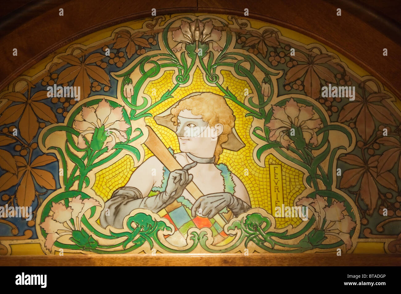 Art Deco Mosaics In A Bistrot Lyon France Stock Photo 32192294 - Deco Lyon