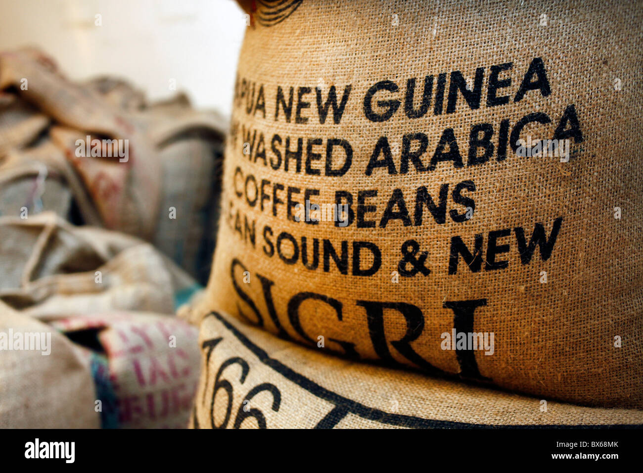 Coffee Arabica News Bags With Raw Arabica Coffee Beans From Papua New Guinea