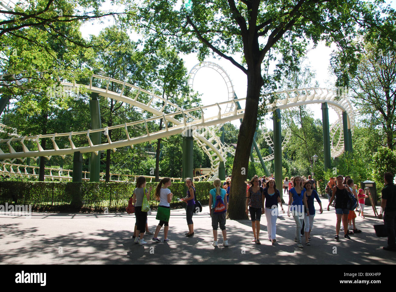 Tivoli Amusement Park Netherlands Teens At Theme Park Stock Photos And Teens At Theme Park