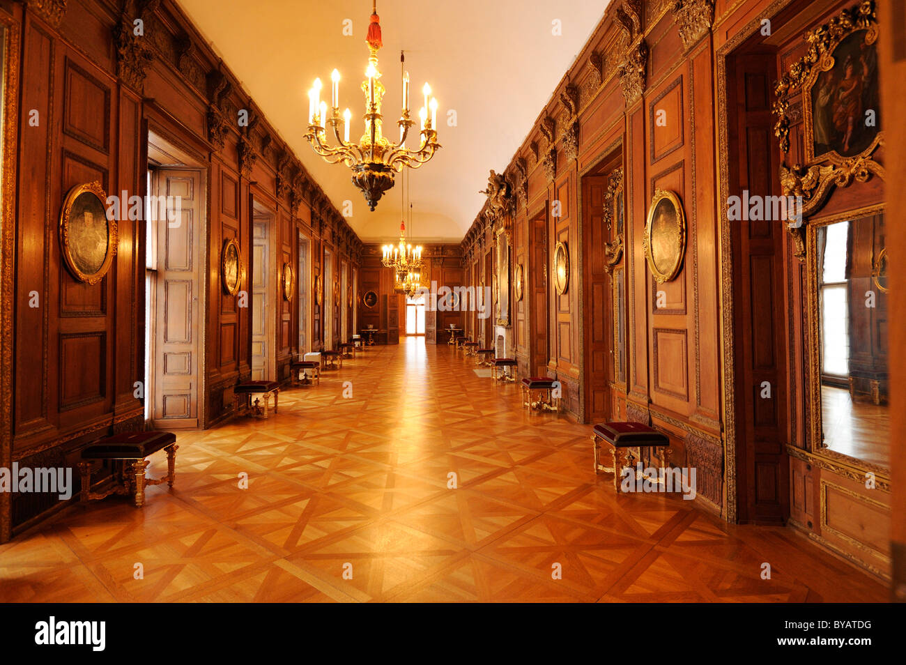 Holzvertäfelung Innen Interior Schloss Charlottenburg Palace Berlin Germany