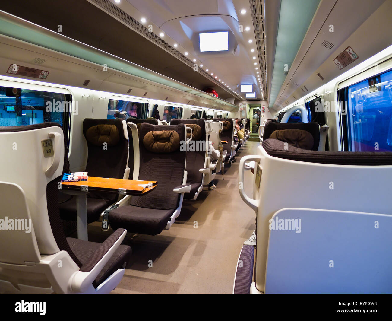 Design Interieur Tgv Interior Of A Eurostar Train First Class Cabin Italy