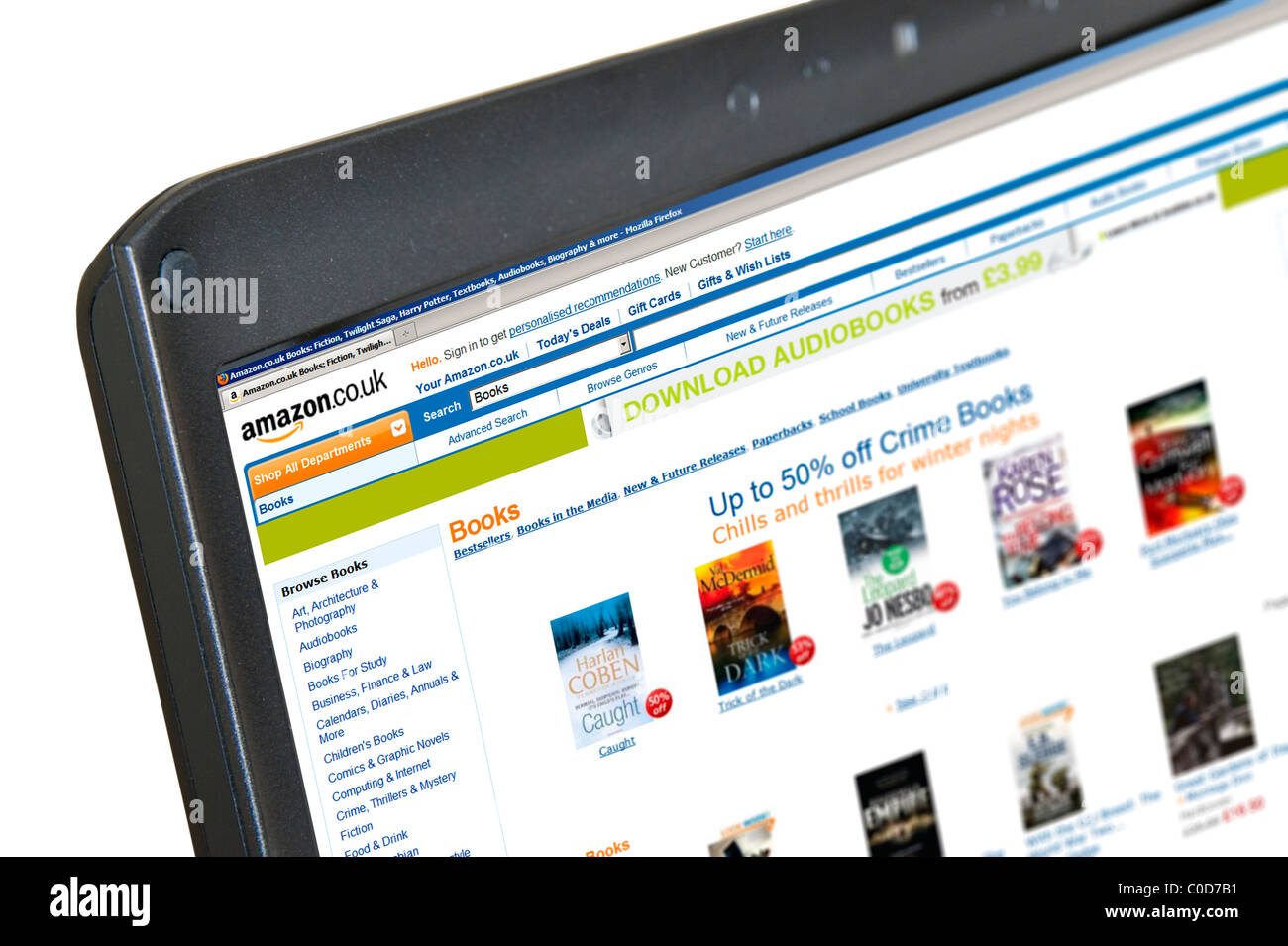 Amazon Uk Books Shopping For Books On The Amazon Co Uk Website Uk Stock Photo