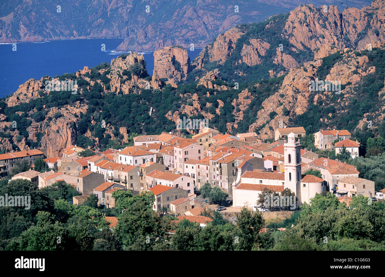 France Corse Du Sud Piana Village Inlets Labelled Les - Cheminees Du Sud Drancy