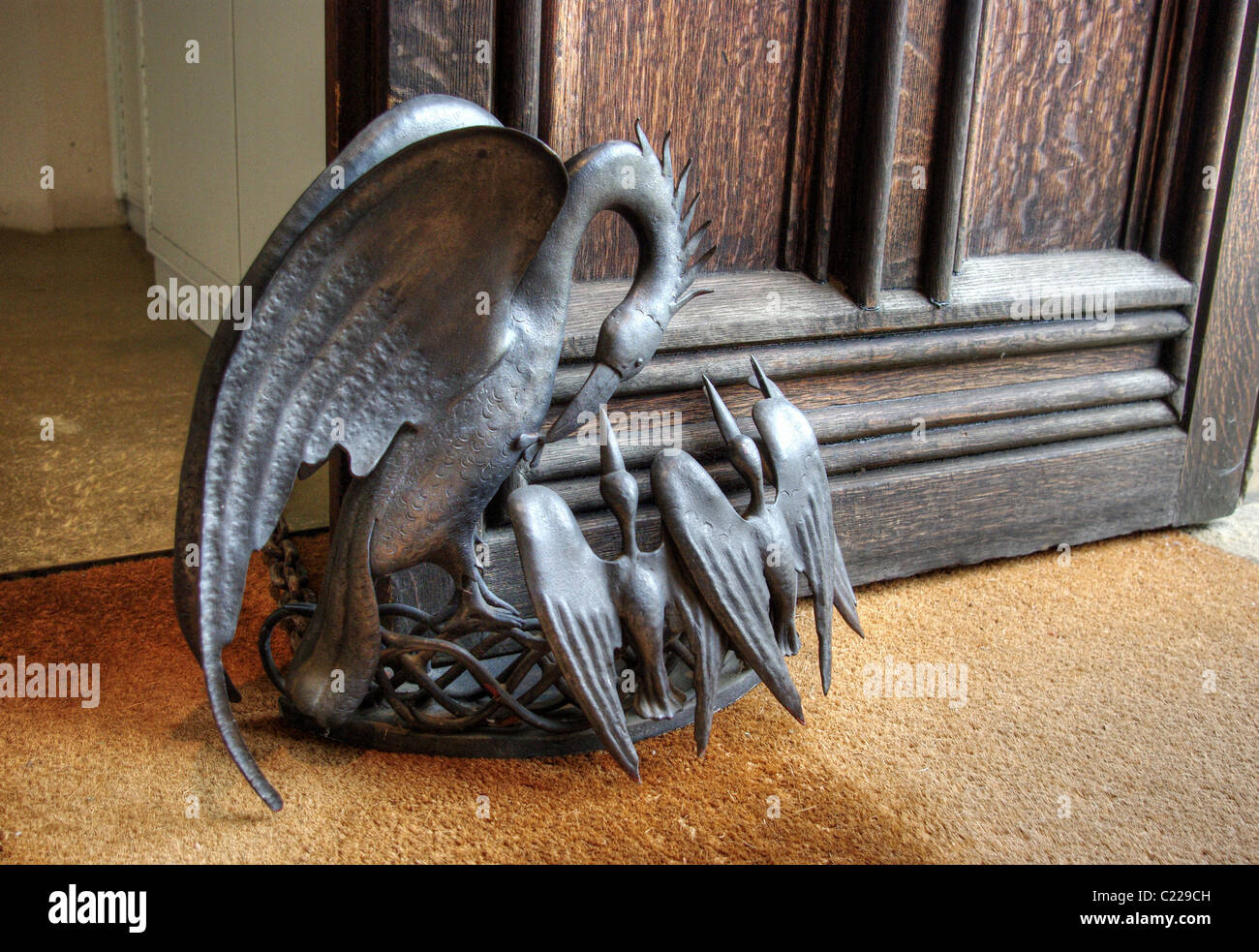 Animal Door Stops Uk Ornate Metallic Door Stop At Corpus Christi College Cambridge Uk