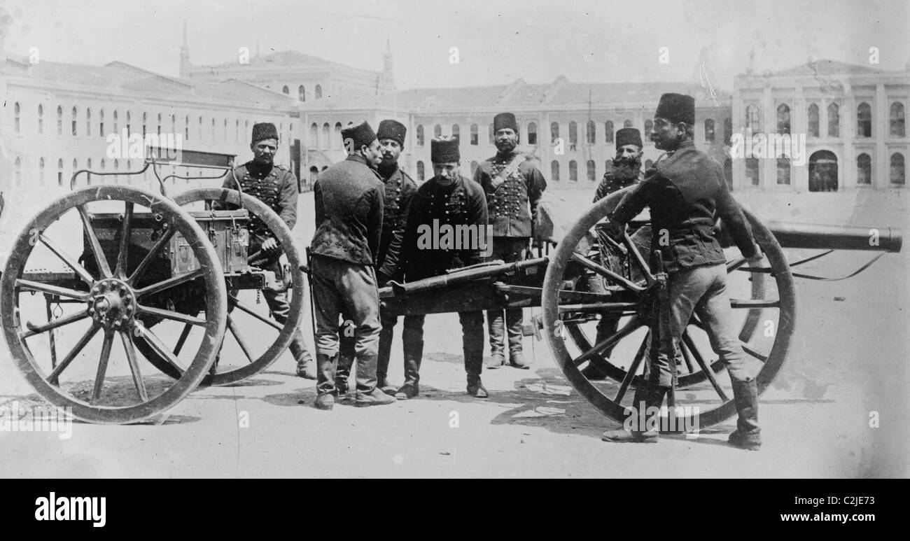 Caisson Mobile Turkish Artillery Of The Ottoman Empire Wwi Stock Photo