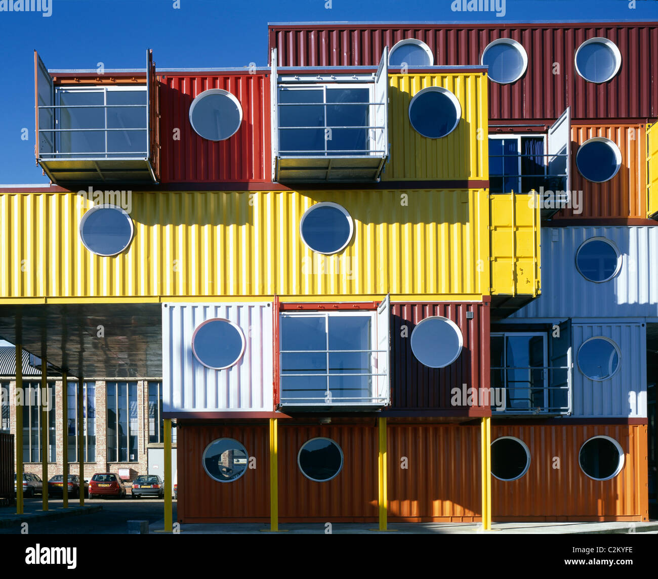 Container Haus London Shipping Container House Stock Photos Shipping Container House