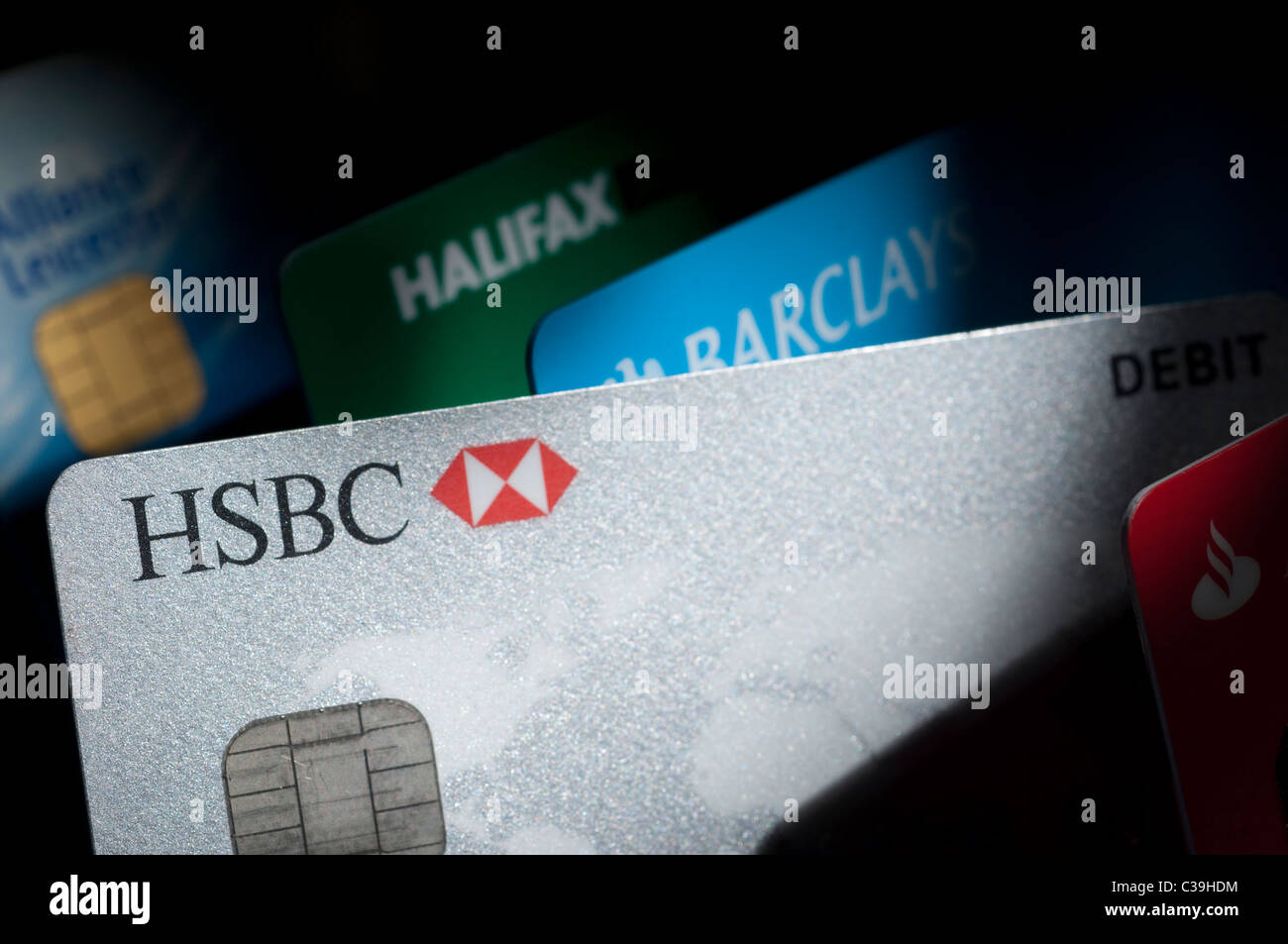 Cash Pool Santander Barclays Debit Card Stock Photos And Barclays Debit Card
