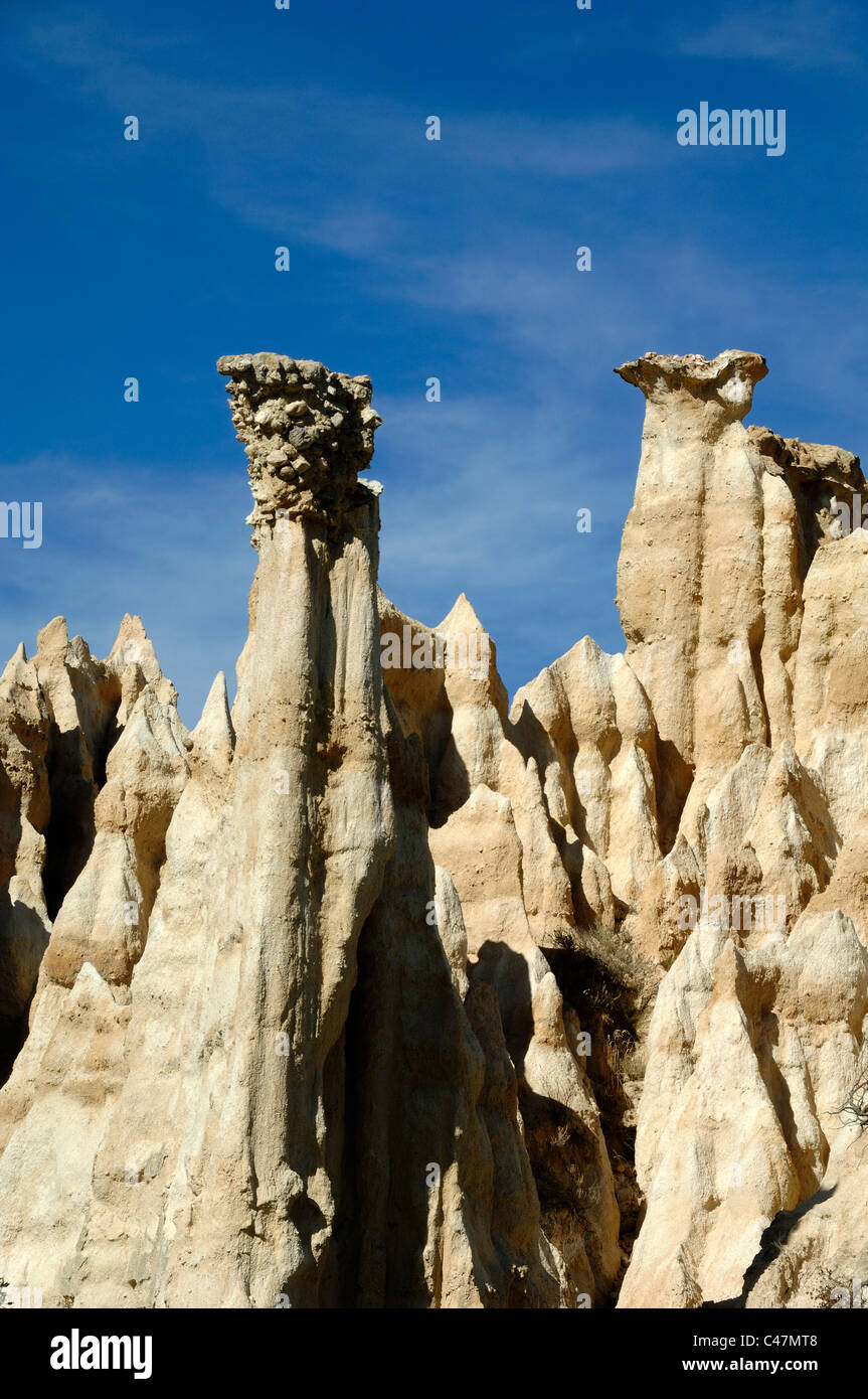Hoodoos Or Fairy Chimneys Eroded Formations Les Orgues Stock - Cheminees De Fees Ille Sur Tet