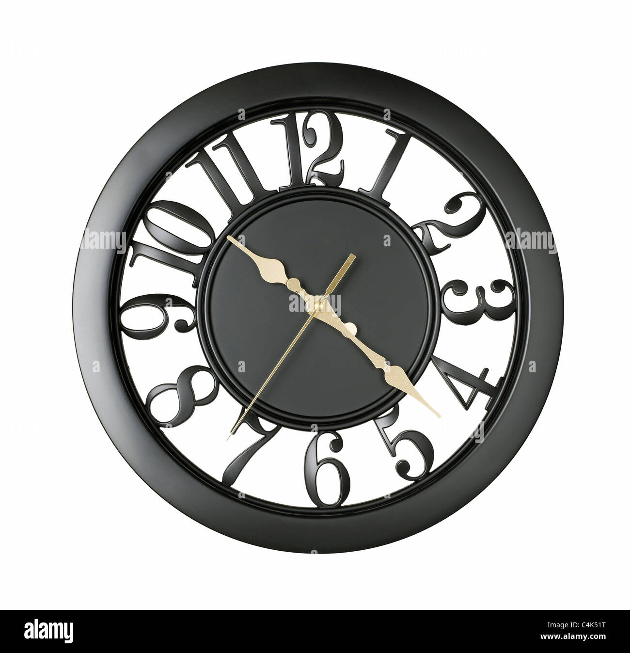 Black Wall Clock Black Wall Clock Stock Photo 37300420 Alamy