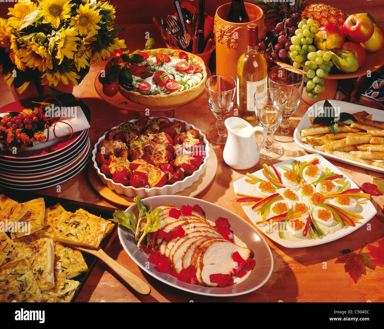 Tableau Autumn Brunch Stock Photo Alamy