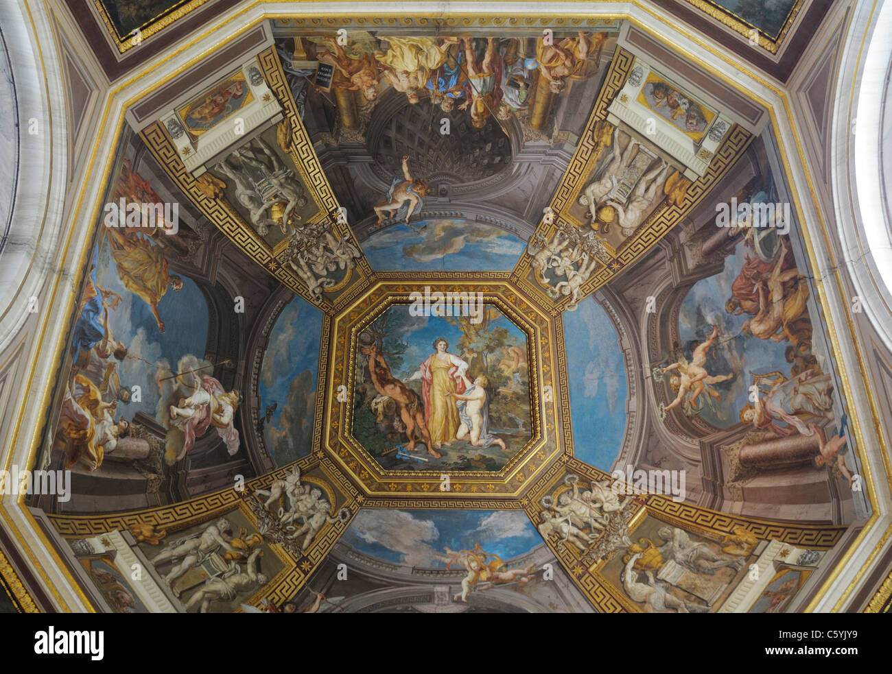 Ceiling painting, Vatican Museum Stock Photo, Royalty Free