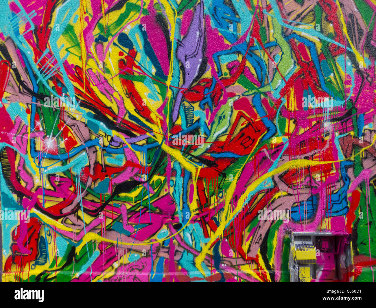 Abstract Mural Painting