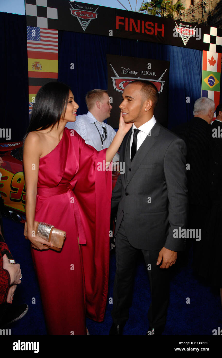 Cars Pixar Lewis Hamilton Nicole Scherzinger Lewis Hamilton At Arrivals For Cars 2