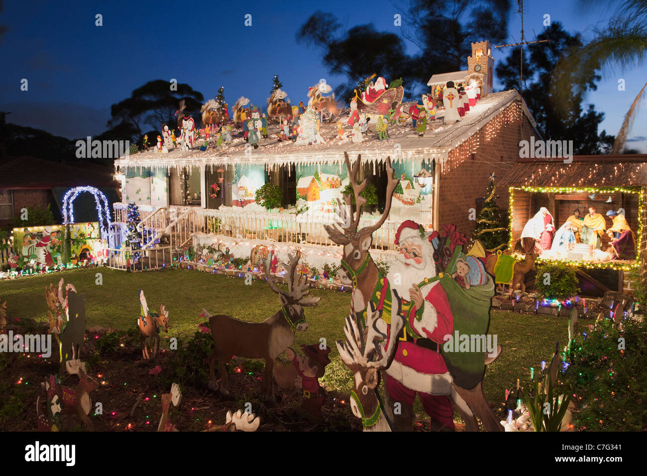 Christmas Decorations Sydney Australian House Christmas Lights Decorations Sydney