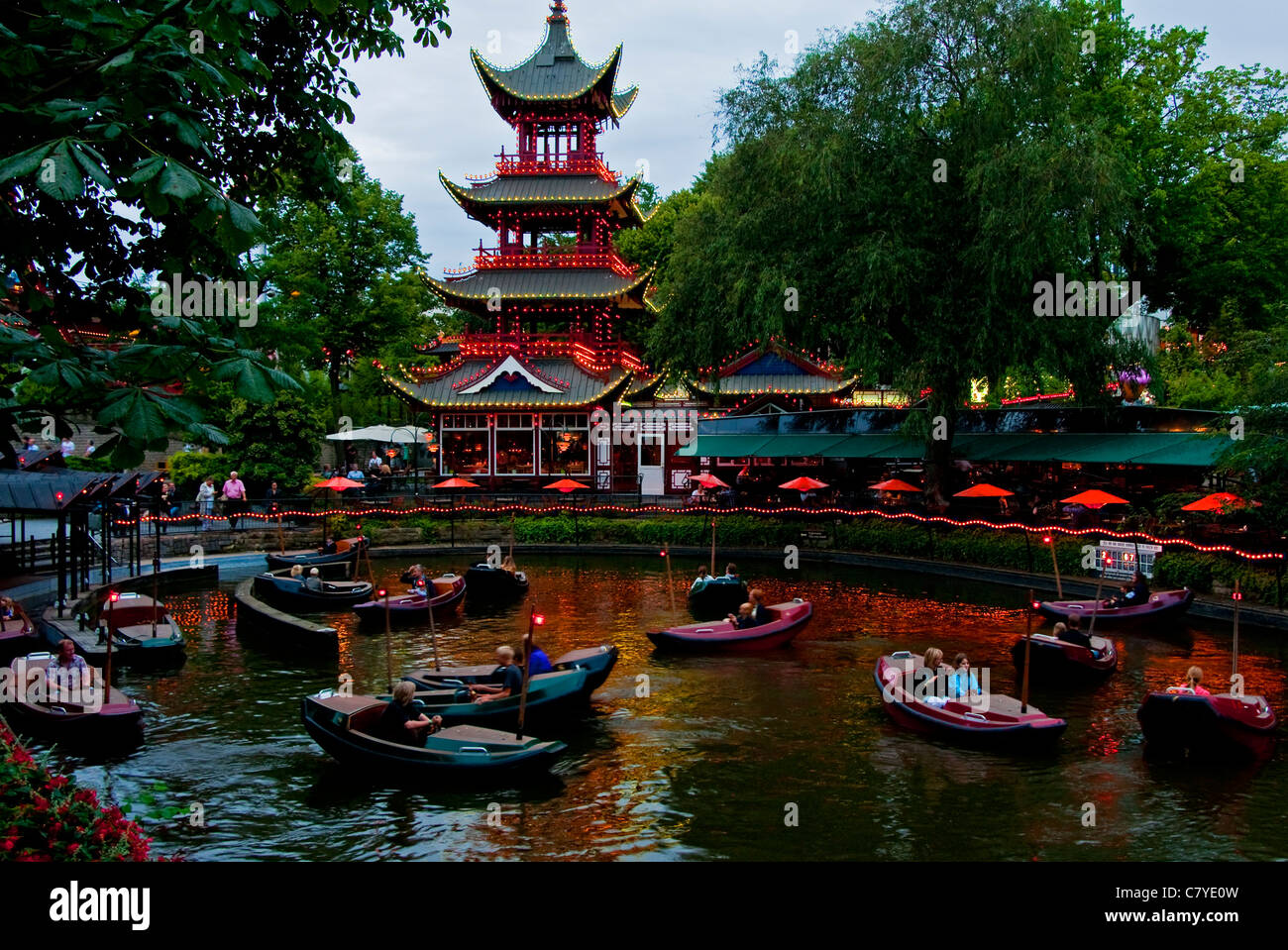 Tivoli Park Restaurants Copenhagen Tivoli Garden Stock Photos And Copenhagen Tivoli