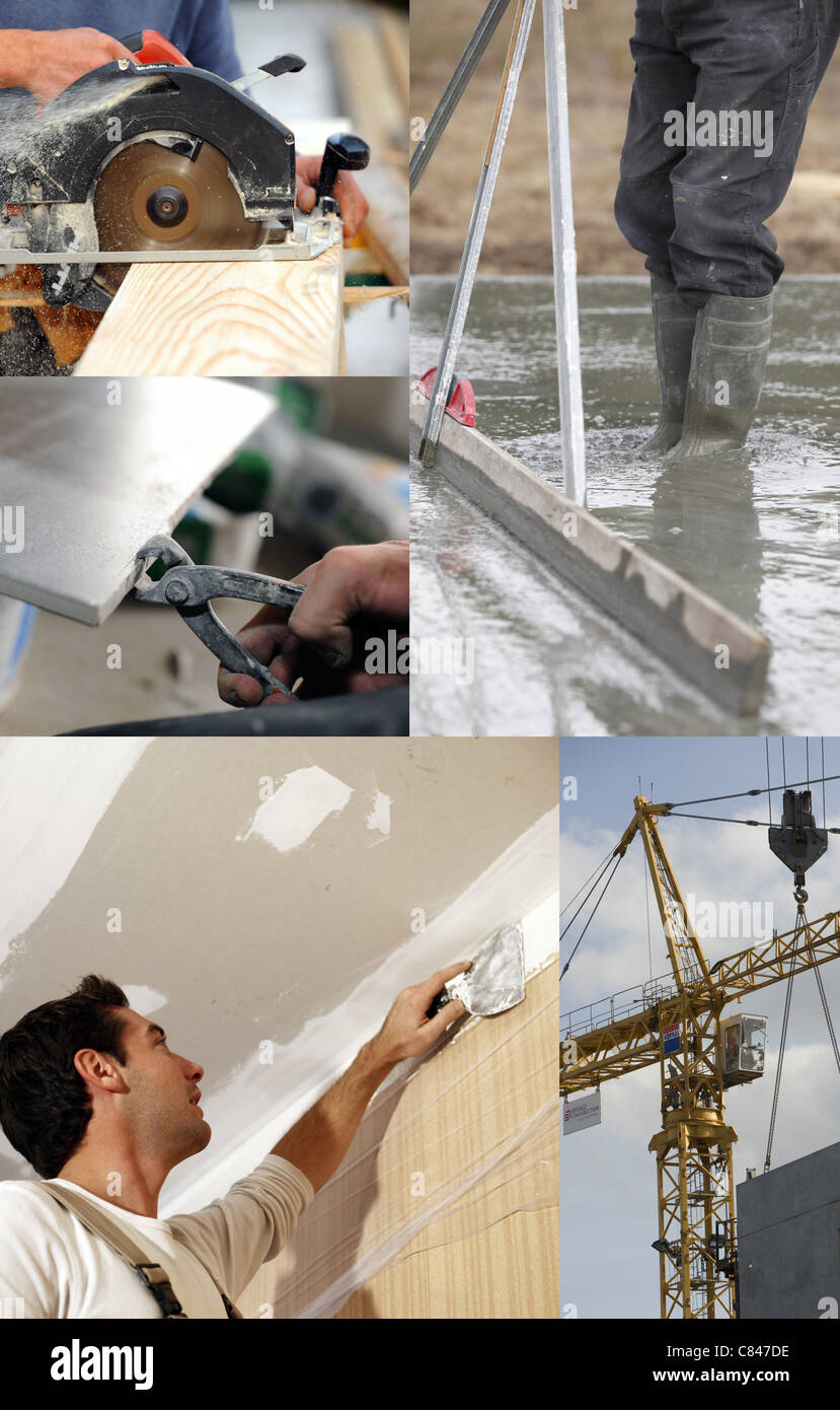 Montage Jobs Montage Of Building Jobs Stock Photo 39431658 Alamy