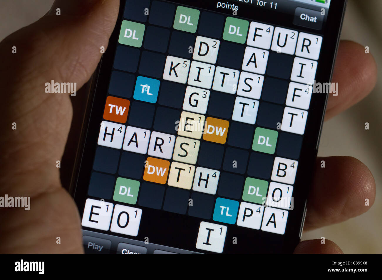 Letters Wordfeud Hand Scrabble Game Stock Photos And Hand Scrabble Game Stock