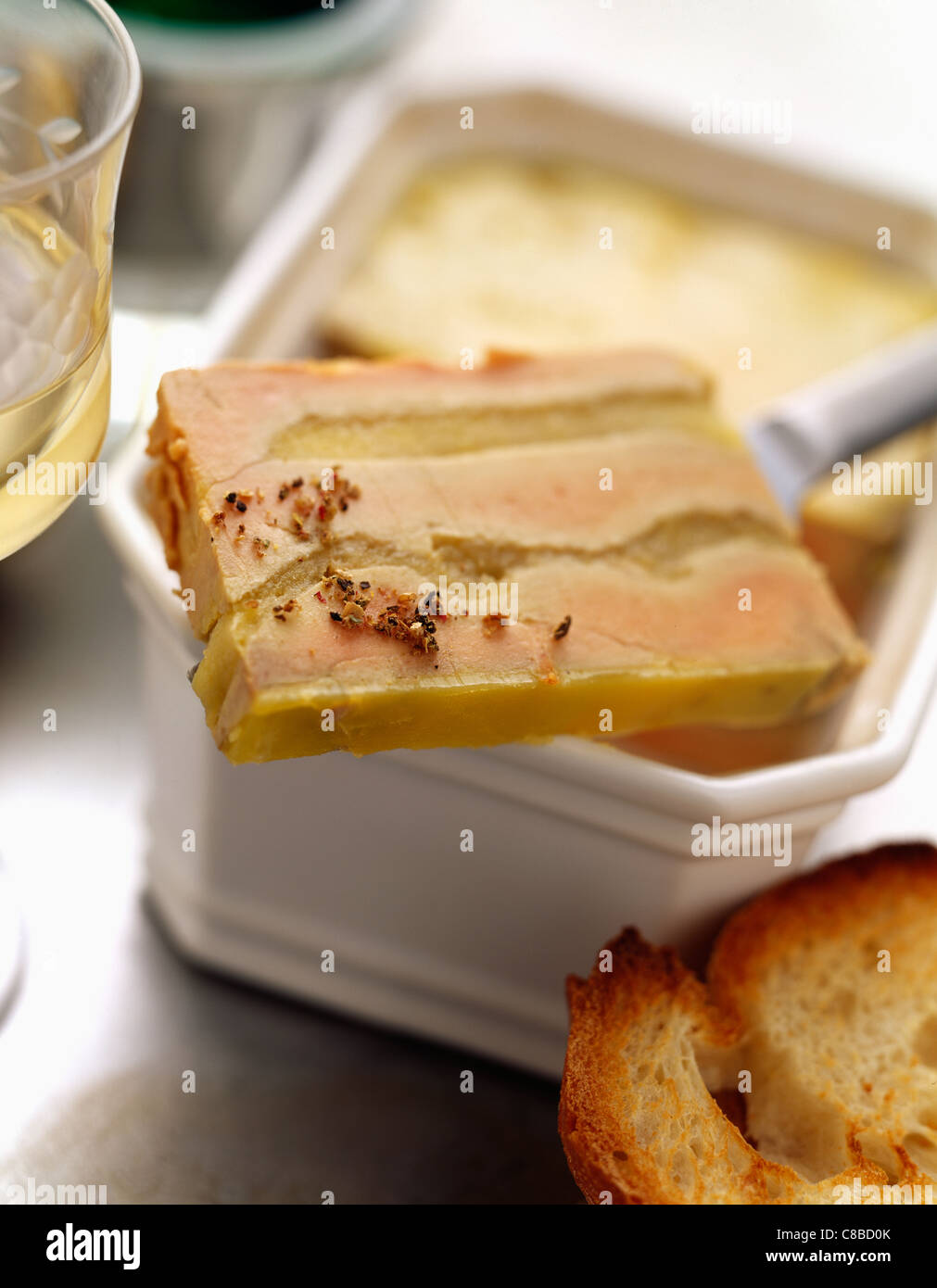 Foie Gras Terrine Foie Gras Terrine With Apple Stock Photo 39589667 Alamy