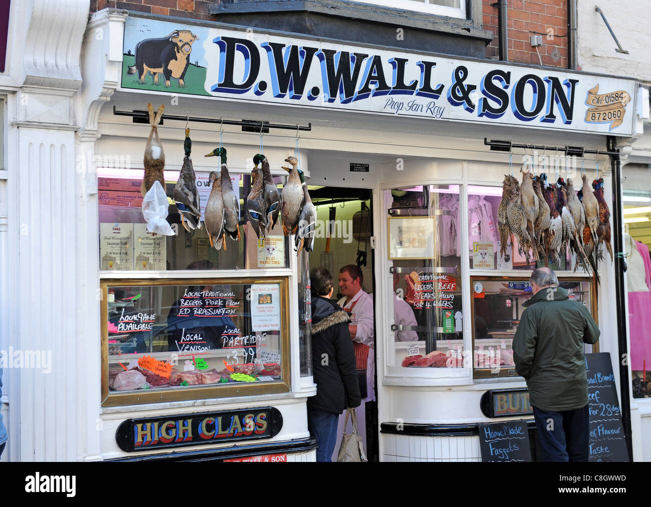 Dw Shop D W Wall Butchers Shop In Ludlow England Uk Stock Photo 39709529