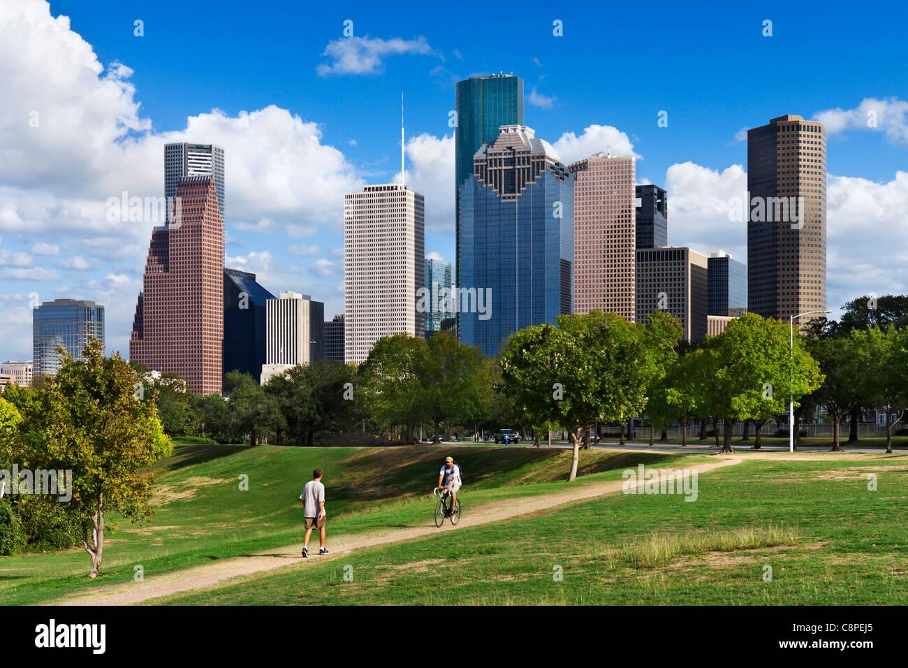 Fall Sunshine Wallpaper The City Skyline From Eleanor Tinsley Park Houston Texas