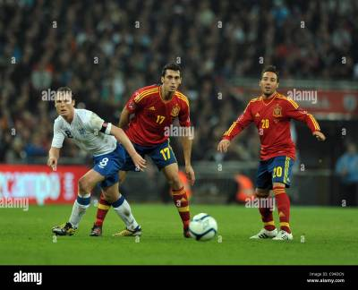 Scott Parker of England - England vs Spain - International Football Stock Photo, Royalty Free ...