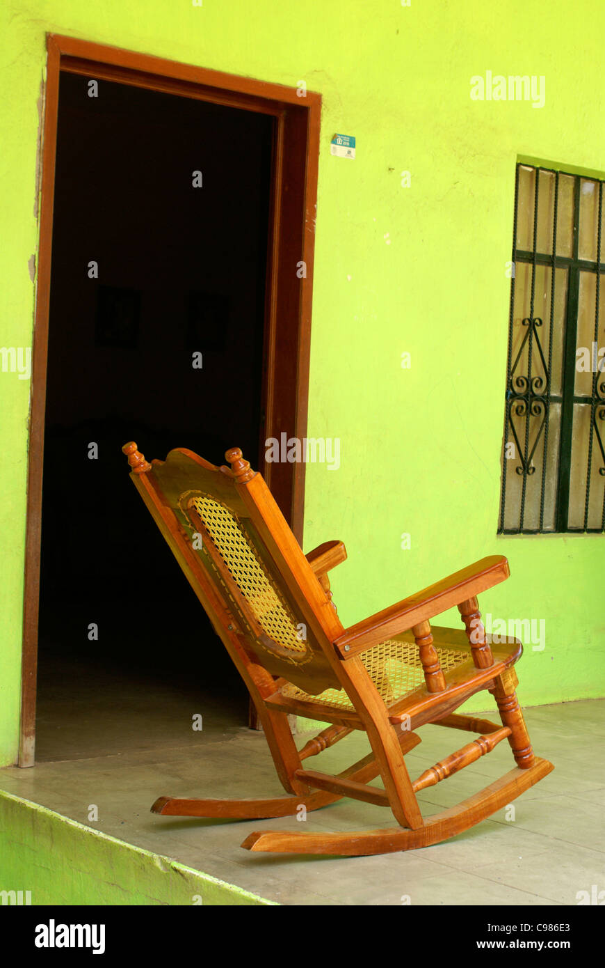 Mexico Chair Schaukelstuhl In A Rocking Chair On A Porch Stock Photos In A Rocking Chair On