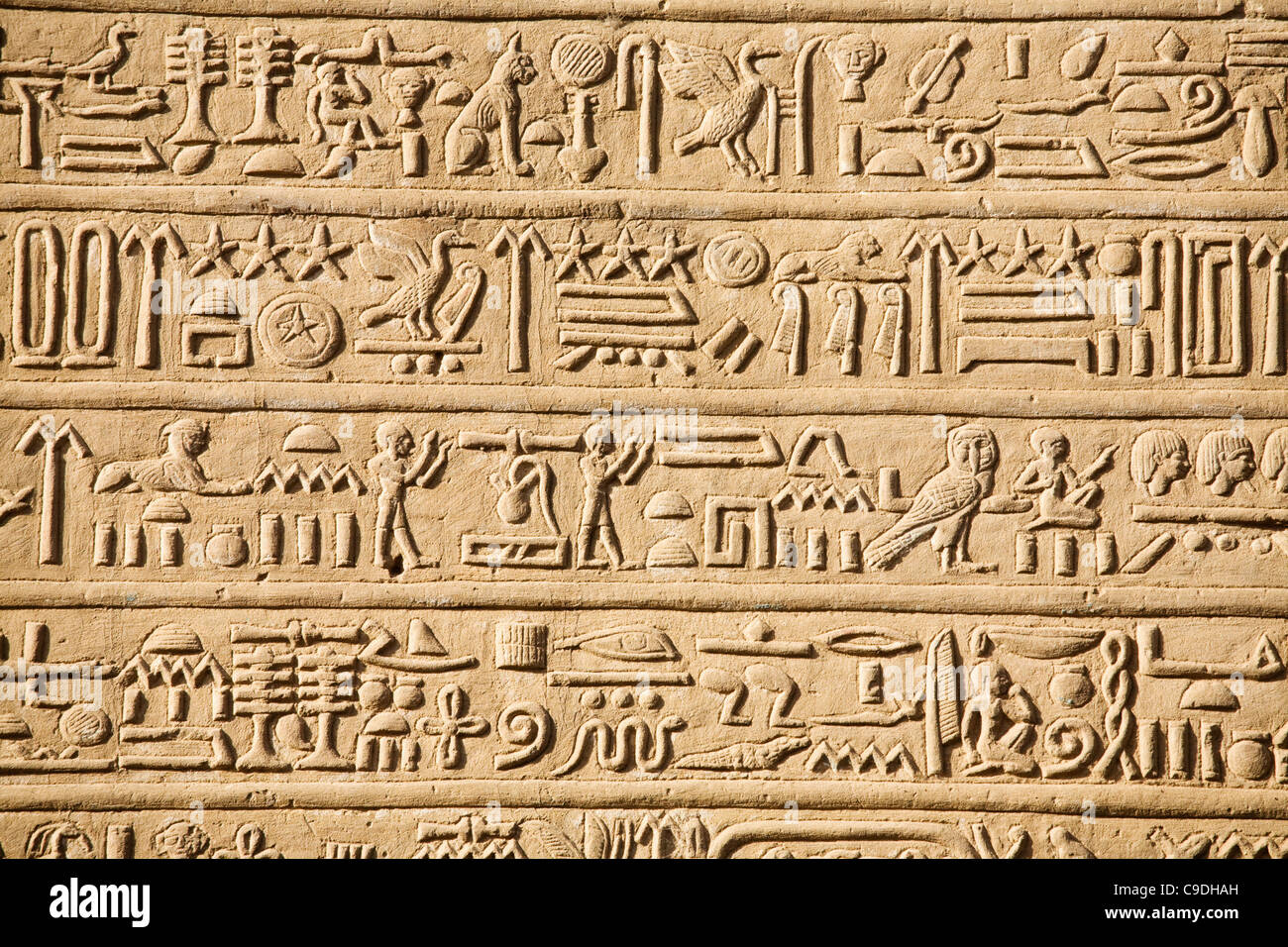 3d Peel And Stick Brick Wallpaper Egypt Hieroglyphics Carved Into Wall Of Temple Of Horus
